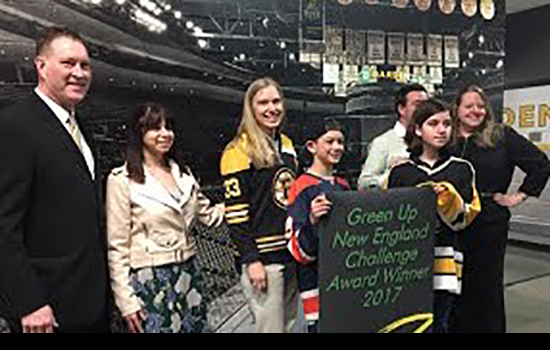 Boston Bruins Green Up New England Challenge Winners!